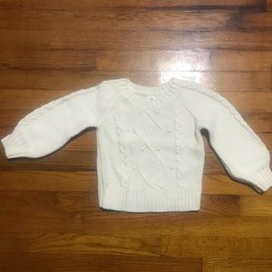 Toddler girls cable knit sweater